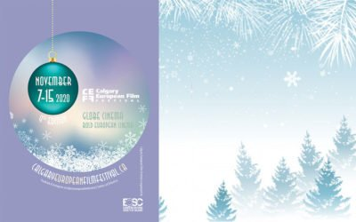 Winter postcard design